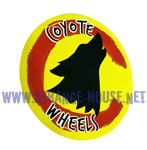 "Coyote Wheels 3"" Round Sticker - Yellow"