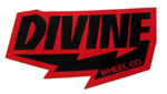 Divine Bolt Logo Sticker Small / Red