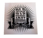 "Old Man Army 2.75"" Square Banner Sticker"