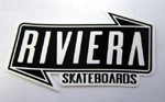 Riviera Banner Sticker Large - Black