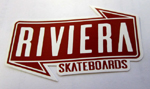 Riviera Banner Sticker Small - Brick