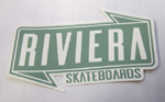 Riviera Banner Sticker Medium - Putty