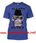 StrangeHouse Fluffy Sucks 2016 Gorilla T-Shirt - Royal / Large