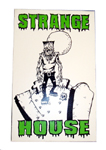 StrangeHouse FrankenZombie White / Green Vinyl Sticker