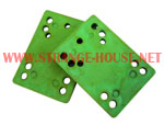 "1/4"" Riser Pads / Soft / Approx. 90a or Harder / Pair / GREEN"