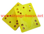 "1/4"" Riser Pads / Soft / Approx. 90a or Harder / Pair / YELLOW"