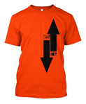StrangeHouse Arrows T-Shirt - Orange / Medium