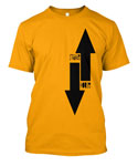 StrangeHouse Arrows T-Shirt - Gold / Large
