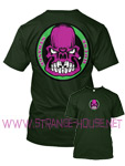 StrangeHouse Butcher Skull T-Shirt / Dark Green / XXL