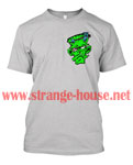 StrangeHouse No Logo FrankenFace T-Shirt / Gray - Large