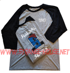 Suicidal Tendencies Logo 3/4 Sleeve Raglan T-Shirt Gray / Medium