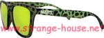 Nectar Wayfarer UV-400 Bungalow Black/Green Cheetah Sunglasses