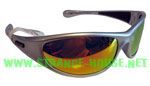 Peppers Sunglasses Backlash-Matte Silver Brown Polarized Orange