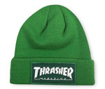 Thrasher Magazine Patch Logo Beanie - Green