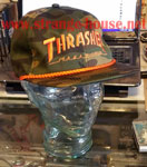 Thrasher Rope Snap Back Logo LTD Cap - Camo / Orange