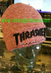 Thrasher Embroidered Logo Beanie Heather Maroon / Black