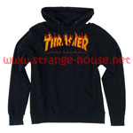 Thrasher Flame Logo Pullover Hoodie Black / Medium