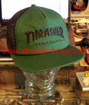 Thrasher Logo Mesh Cap Embroidered Grenn / Black