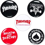 Thrasher 5 Pack of Logo Buttons