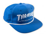 Thrasher Rope Snap Back Logo LTD Cap - Blue / White