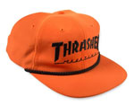 Thrasher Rope Snap Back Logo LTD Cap - Orange / Black
