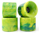 Tunnel Rocks 63mm 76a STR Racing Formula Yellow / Green Swirl