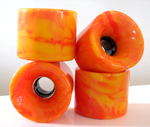 Tunnel Rocks 63mm 78a STR Racing Formula Yellow / Orange Swirl