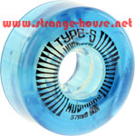 Type-S Kushion Wheels 57mm / 90a - Clear Blue