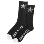 Nor Cal Overtime Socks Black / 2 Pair Pak