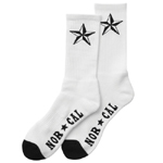 Nor Cal Overtime Socks White / 2 Pair Pak