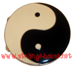 "Ying Yang Belt Buckle / 3.125"" Round"