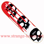 "Zero 3 Skull Blood Cult 8.0"" White Deck"