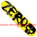 "Zero Blood Negative 7.875"" Deck - Yellow / Black"