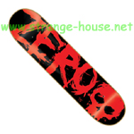 "Zero Blood Text 8.13"" R7 Deck - Black / Red"