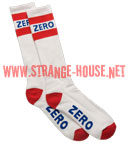 Zero Army Knee Hi Socks / 1 Pair / White, Red and Blue
