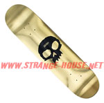 "Zero Single Skull Gold Foil 8.125"" Deck / R7"