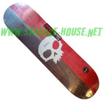 "Zero Split Single Skull 8.125"" Deck / R7 / Red & Charcoal Stain"